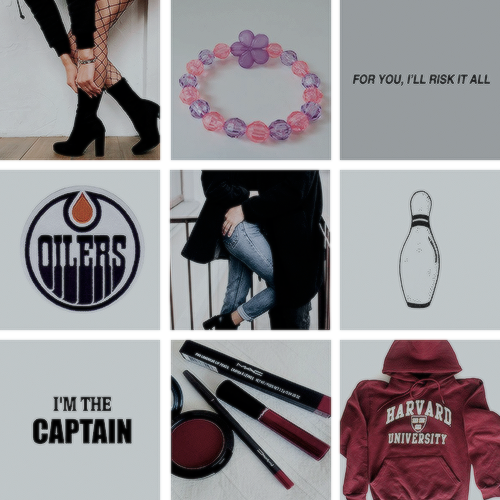 Moodboard Aesthetic for The Risk (Briar U #2) by Elle Kennedy