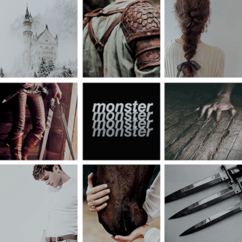 Moodboard Aesthetic for A Curse So Dark and Lonely by Brigid Kemmerer